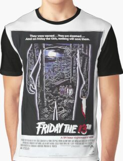 Friday the 13th - Original Poster 1980 Graphic T-Shirt