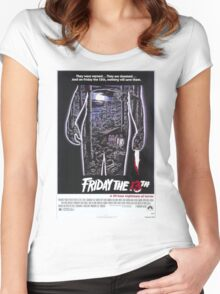 Friday the 13th - Original Poster 1980 Women's Fitted Scoop T-Shirt