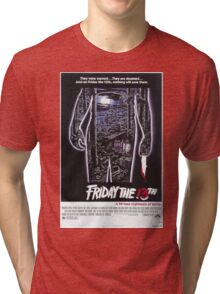 Friday the 13th - Original Poster 1980 Tri-blend T-Shirt