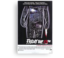 Friday the 13th - Original Poster 1980 Canvas Print