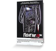 Friday the 13th - Original Poster 1980 Greeting Card