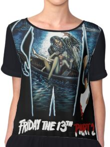 Friday the 13th Part 2 - Original Poster 1981 Chiffon Top