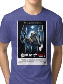 Friday the 13th Part 2 - Original Poster 1981 Tri-blend T-Shirt