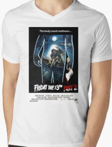 Friday the 13th Part 2 - Original Poster 1981 Mens V-Neck T-Shirt