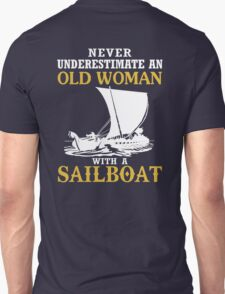 Old Woman With A Sailboat T-Shirt