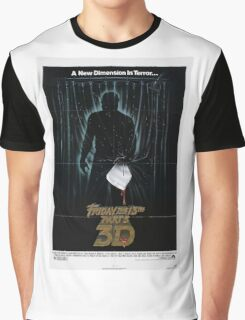 Friday the 13th Part 3 (3D) - Original Poster 1982 Graphic T-Shirt