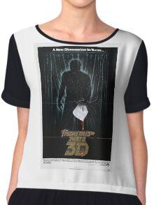 Friday the 13th Part 3 (3D) - Original Poster 1982 Chiffon Top
