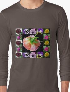Bejewelled Orange Wildfire Rose Collage Long Sleeve T-Shirt