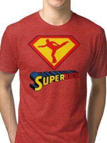 Superkick! (White) Tri-blend T-Shirt