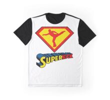 Superkick! (White) Graphic T-Shirt