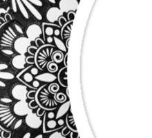 Henna Crescent Moon Sticker