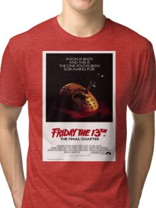 Friday the 13th Part 4 (The Final Chapter) - Original Poster 1984 Tri-blend T-Shirt