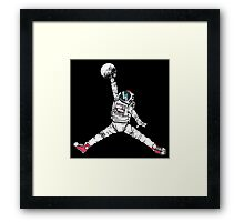 Slam Dunk In Space Framed Print