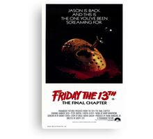 Friday the 13th Part 4 (The Final Chapter) - Original Poster 1984 Canvas Print
