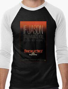Friday the 13th Part 5 (A New Beginning) - Original Poster 1985 Men's Baseball ¾ T-Shirt