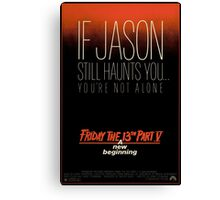 Friday the 13th Part 5 (A New Beginning) - Original Poster 1985 Canvas Print