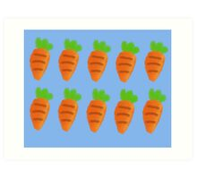 Oil Pastel carrots pattern Art Print