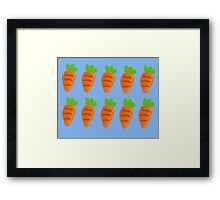 Oil Pastel carrots pattern Framed Print