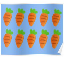 Oil Pastel carrots pattern Poster