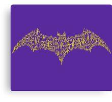 Batgirl Symbol Canvas Print
