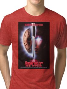 Friday the 13th Part 7 (The New Blood) - Original Poster 1988 Tri-blend T-Shirt