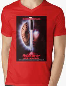 Friday the 13th Part 7 (The New Blood) - Original Poster 1988 Mens V-Neck T-Shirt