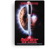 Friday the 13th Part 7 (The New Blood) - Original Poster 1988 Canvas Print