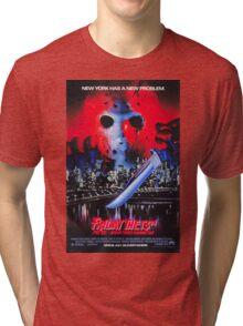 Friday the 13th Part 8 (Jason Takes Manhattan) - Original Poster 1989 Tri-blend T-Shirt