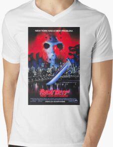 Friday the 13th Part 8 (Jason Takes Manhattan) - Original Poster 1989 Mens V-Neck T-Shirt
