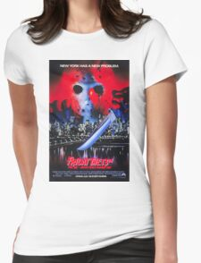 Friday the 13th Part 8 (Jason Takes Manhattan) - Original Poster 1989 Womens Fitted T-Shirt