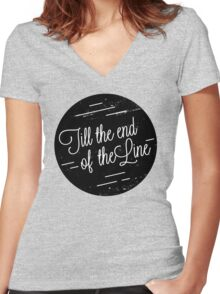 I'm With You Women's Fitted V-Neck T-Shirt