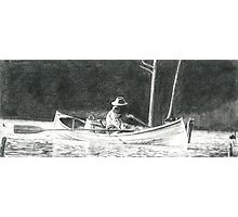Man Rowing Photographic Print