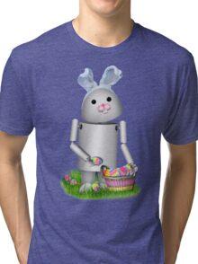 Cute Easter Robot -  Robo-x9  Tri-blend T-Shirt