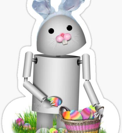 Cute Easter Robot -  Robo-x9  Sticker