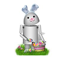 Cute Easter Robot -  Robo-x9  Photographic Print