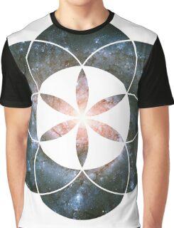 Pinwheel Galaxy | Sacred Geometry Flower of Life Sticker Graphic T-Shirt