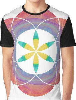 Eye of 24 | Sacred Geometry Flower of Life Sticker Graphic T-Shirt