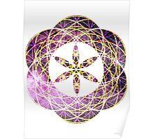 Geo Scorpius | Sacred Geometry Flower of Life Sticker Poster