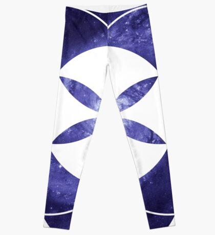 Pinwheel Blue Hue   Sacred Geometry Flower of Life Sticker Leggings