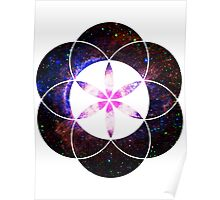 Eye of Helix [Pink] | Sacred Geometry Flower of Life Poster