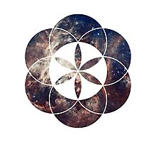 Star Clouds | Sacred Geometry Flower of Life Photographic Print