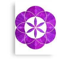 Ki Blast From Ancient Mew Metatron Overlay | Sacred Geometry Flower of Life Canvas Print