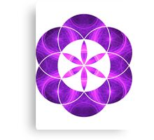 Purple Circles | Sacred Geometry Flower of Life Canvas Print