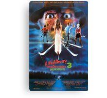 A Nightmare on Elm Street Part 3 (Dream Warriors) - Original Poster 1987 Canvas Print