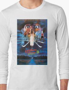 A Nightmare on Elm Street Part 3 (Dream Warriors) - Original Poster 1987 Long Sleeve T-Shirt