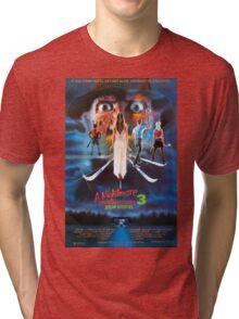 A Nightmare on Elm Street Part 3 (Dream Warriors) - Original Poster 1987 Tri-blend T-Shirt