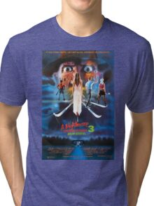 A Nightmare on Elm Street Part 3 (Dream Warriors) - Original Poster 1987 Tri-blend T-Shirt