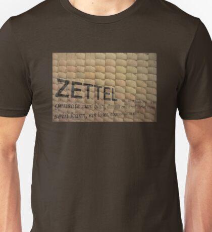 Slips of paper (Zettel) Unisex T-Shirt