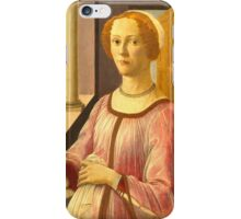 Botticelli  - Portrait of a Lady known as Smeralda Bandinelli Woman Portrait Fashion iPhone Case/Skin