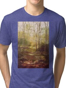 Dreamy forest scene in Sussex. Tri-blend T-Shirt